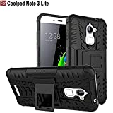 CEDO Kickstand Spider Hard Dual Rugged Shock Proof Tough Hybrid Armor Bumper Back Cover for Coolpad Note 3 Lite, 5 Inches(Black)