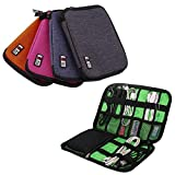 EasyBuy India Rose Red : Hot Mini Earphone Data Cables USB Flash Drives Travel Case Digital Storage Bag New