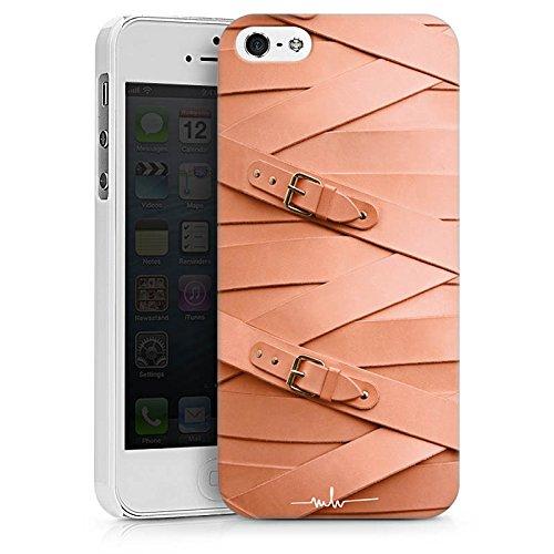 Apple iPhone X Silikon Hülle Case Schutzhülle Leder Fashion Schnallen Hard Case weiß