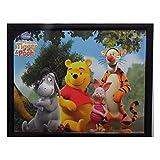 Tableau Winnie l'Ourson, Porcinet, Tigrou et bourriquet 20 x 25 cm Disney cadre rect deb