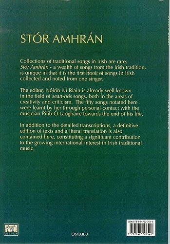 Image of Stor Amhran - A Wealth Of Songs From The Irish Tradition. Sheet Music, CD for Treble Clef Instruments