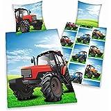 Herding 445104050 Bettwäsche Traktor, Kopfkissenbezug: 80 x 80 cm plus Bettbezug: 135 x 200 cm, 100 % Baumwolle, Renforce