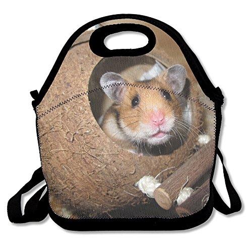 kkwodwcx Lovely hámster con aislamiento bolsa para el almuerzo Bolsas de picnic Gourmet bolsas de almuerzo reutilizables para trabajo de la escuela-mejor bolsa de viaje