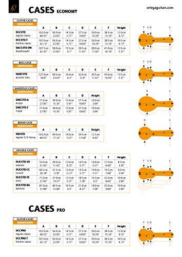 ORTEGA Koffer für Akustikbass - schwarz, Economy Series Chrom Hardware, 130cm (OABCSTD)