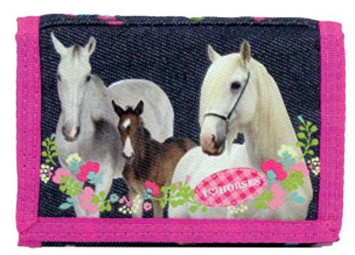 I Love Horses Kinder Geldbeutel Pferde Portmonnaie Geldbörse Pferd