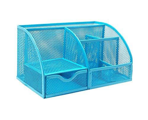 Exerz EX348 Tisch-Organizer/Schreibtisch Organisator/Schreibtisch Tidy/Stifthalter / Multifunktions -Organisator (EX348 Blau)