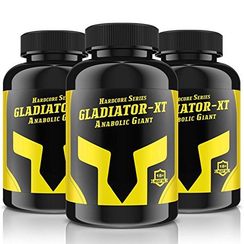 GLADIATOR XT - ANABOLIC GIANT | 90 Tabletten (vegan) | Zur Unterstützung des Muskelaufbaues + Pre-Workout Booster | 9 Inhaltsstoffe | Mit Beta-Alanin + Citrullin + AAKG