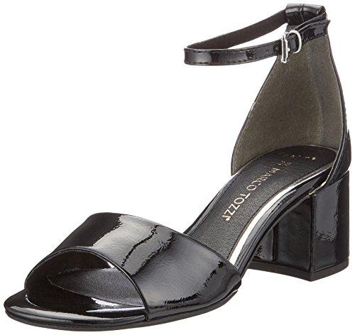 Marco Tozzi 28316 Sandali con Cinturino alla Caviglia Donna Nero Black