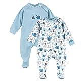 Bornino 2er-Pack Schlafoverall/Babybekleidung / Schlafanzug mit Reißverschluss / 100% Baumwolle