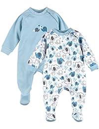 BORNINO 2er-Pack Schlafoveralls Baby-Nachtwäsche Baby-Schlafanzug