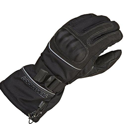 Lookwell Kongo Motorrad Handschuhe für Damen und Herren, Schwarz, Größe 3X L