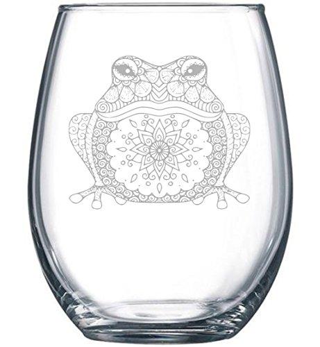 C & M Persönlichen Geschenke Frosch Weinglas Weingläser Ohne Stiel, 15oz