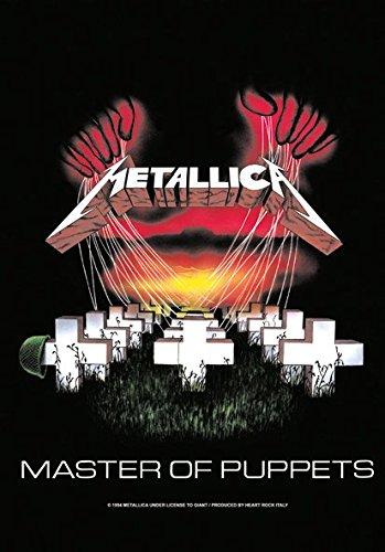 Heart Rock Licensed Bandiera Metallica - Master Of Puppets, Tessuto, Multicolore, 110X75X0,1 cm