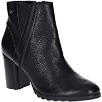 Hush Puppies Womens Spaniel Block Heel Leather Ankle Boots
