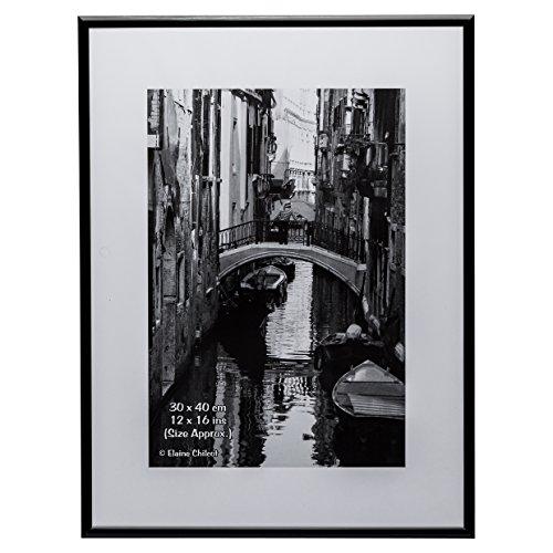 Ro Von Bild (ali3040blk schwarz Aluminium 30,5?x 40,6?cm (30?x 40?cm) Zertifikat Foto Poster Bild Display Rahmen mit Sicherheit nicht-Glas Blende)