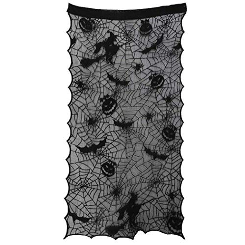 JUSTDOLIFE Halloween Türvorhang Creative Spider Web Decor Fenster Vorhang Türvorhang