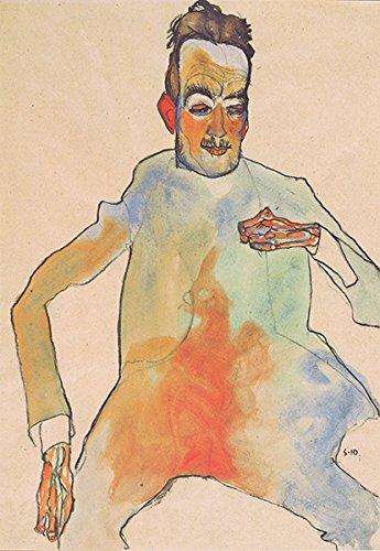 "Egon Schiele-Der cello-spieler-1910Vintage Fine Art Print, Up to 594mm by 841mm or 23.4"" by 33.1"""