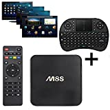 YSILE Android-TV-Box M8S Quad-Core Cortex A9r4 Prozessor TV Box Streaming