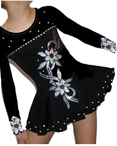 Figure Skating Dress Danza Mariechen Show danza vestito halloween vestito costume, Halloween, rollk unstl ON Dress
