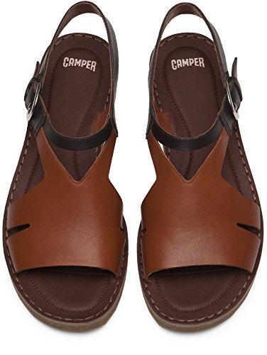 CAMPER SANDALO K200379-002 Pimpom Marrone