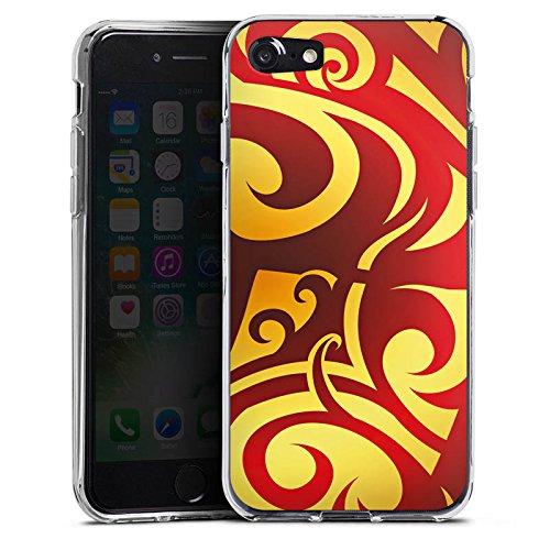 Apple iPhone X Silikon Hülle Case Schutzhülle Abstrakt Muster Blumen Silikon Case transparent