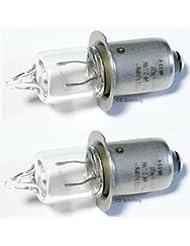 Lot de 2halogène HS3miniature Lampe/Ampoule–6V/2,4W/0,4A/PX 13,5S