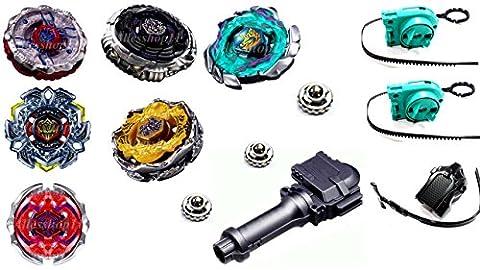 Kampfkreisel 6 Xxl Mega Set Metal Fusion 4D KAMFKREISEL SET für beyblades von Rapidity® B-12