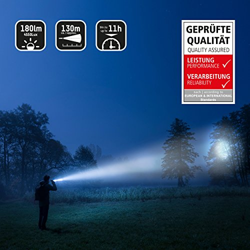 ANSMANN Future Multi-Funktions LED-Taschenlampe fokussierbar + Arbeitslicht + Signal-Blinklicht + Haltemagnet inkl. Gürtelclip & 3x AAA Alkaline Batterie - 3