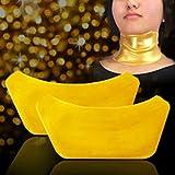 5starwarehouse®, maschera di oro 24 k al collagene, anti rughe e anti invecchiamento per viso, occhi, labbra o collo (3maschere collo)