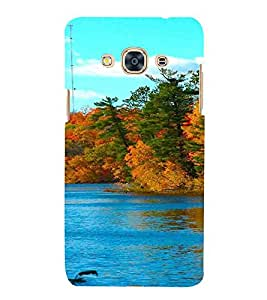 Lake, Multicolor, Lake with greenery, nice pattern, Printed Designer Back Case Cover for Samsung Galaxy J3 Pro :: Samsung Galaxy J3 (2017)