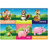 Pola Puzzles Wild Animals Tiling Puzzles 9 Pieces X 6 Puzzles For Kids Age 3 Years And Above Multi Color Size 11.2CM X 11.2CM Jigsaw Puzzles For Kids