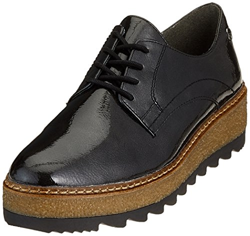 Tamaris Damen 23703 Oxfords, Grau (Anthracite Pat 235), 41 EU