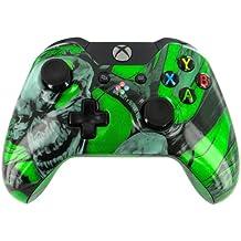 """Nightmare Skulls Green"" Xbox ONE Custom Modded Controller Exclusive Design - COD Ready ..."