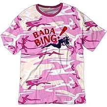 BSW hombre tira de Bada Bing Club Sopranos gángster crimen camiseta