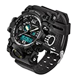 SANDA 2016Neue Marke Mode Armbanduhr Herren G Stil Wasserdichte Sport Military Uhren Schock Herren Luxus Armbanduhr Analog Digital Quarz, Schwarz