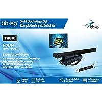 BB de EP – Thule 9132953562 Juego completo – PREMIUM Acero Baca/Last portaequipajes para