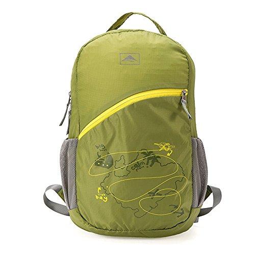 Ranbow Mountaineering Backpack Rainproof Foldable Climbing Daypack Rucksack 20L, Grass Green Erba verde