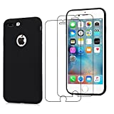 E-Mandala Housse Coque iPhone 7 Plus 8 Plus Noire Marque Transparent Silicone Ultra...