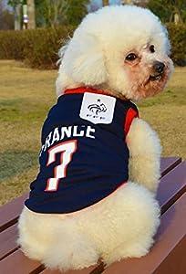 OMGO Vest été Gilet Léger Vêtement Sans Manches Respirant Maillot fin supporter l'équipe de France très Magnifique vêtement Pour petit moyen chien chiot 4 Tailles S/M/L/XL