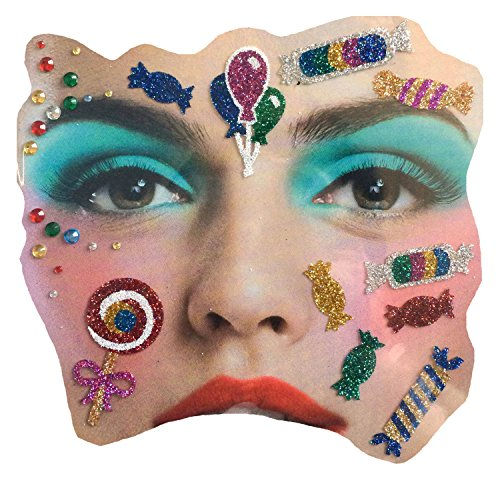 Gesichts Tattoo Face Art Halloween Karneval Kamelle/Candy