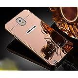 Samsung Galaxy Note 3Funda de Espejo, Ultra Thin Aleación de aluminio metal enchapado electroplate Bumper Panel Trasero Carcasa rígida para Samsung Galaxy Note 3, metal, oro rosa, Samsung Galaxy Note 3