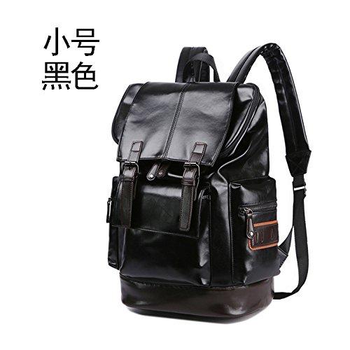 Mefly Student Rucksäcke große Kapazität Shoulder Bag Fashion Trends Black trumpet