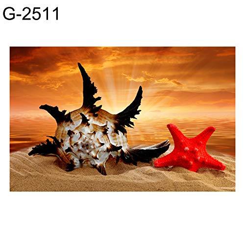 2511 Licht (Diamant-Gemälde, komplettes Set, 30 x 40 cm, Naturlandschaft, 5D, rund, Kreuzstich, DIY Wandgemälde, handgefertigt, Stickerei für Zuhause und Wanddekoration, G-2511, Einheitsgröße)