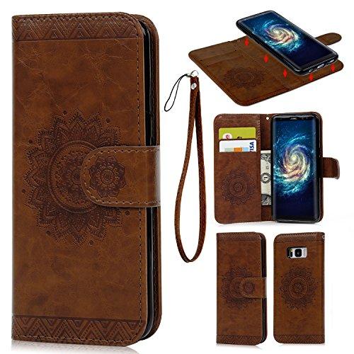 Funda para Samsung Galaxy S8, Carcasa Libro de Cuero Impresión de Tótem...