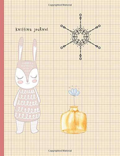 Knitting Journal: 2:3 Ratio Design Blank Knitter's Journal Graph Paper Notebook on Your Design Knitting Charts for Creative New Patterns Composition Notebook Little Rabbit Journal - Little Christmas Elf Kostüm