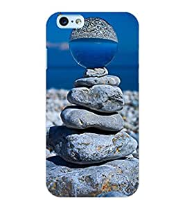 ColourCraft Creative Stone Image Design Back Case Cover for APPLE IPHONE 6