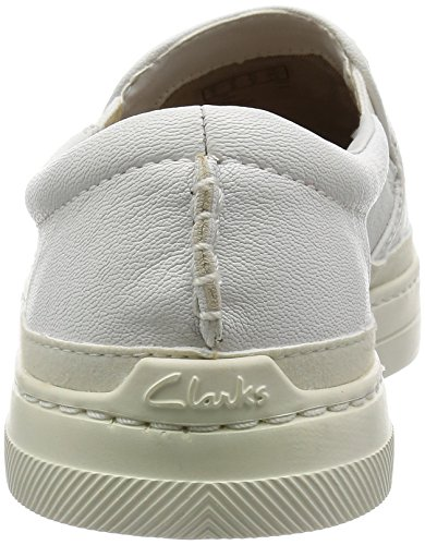 Clarksballof Step - Slip On Avec Rembourrage Homme Blanc Clair (cuir Blanc)
