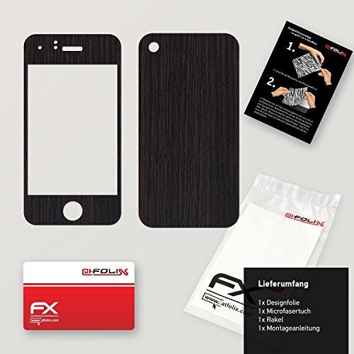 """Skin Apple iPhone 3Gs """"FX-Variochrome-Pearl"""" Designfolie Sticker FX-Wood-Dark-Wenge"""