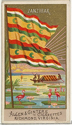 The Poster Corp ' - Zanzibar from Flags of All Nations Series 2 (N10) for Allen & Ginter Cigarettes Brands Kunstdruck (45,72 x 60,96 cm) - N10-serie