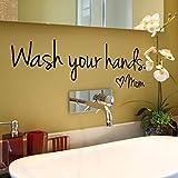 gaddrt Wandaufkleber Wohnkultur Wasche Deine Hände Mama Decal Schlafzimmer Vinyl Kunst Wandbild